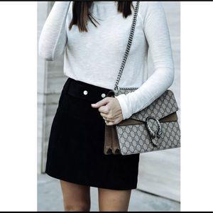Zara Black Suede Skirt